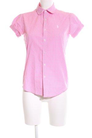 Ralph Lauren Kurzarmhemd pink-weiß Karomuster Casual-Look