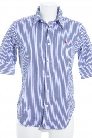 Ralph Lauren Short Sleeve Shirt blue-white striped pattern athletic style