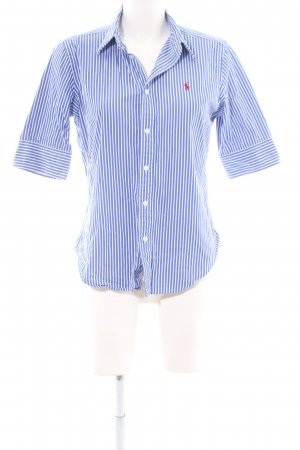 Ralph Lauren Short Sleeve Shirt blue-white striped pattern casual look