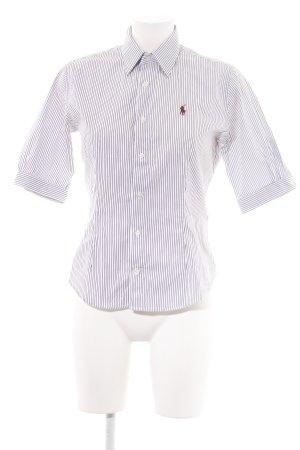 Ralph Lauren Kurzarmhemd schwarz-weiß Schriftzug gestickt Business-Look