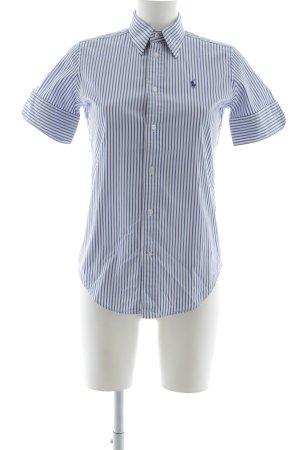Ralph Lauren Shirt met korte mouwen staalblauw-wit gestreept patroon