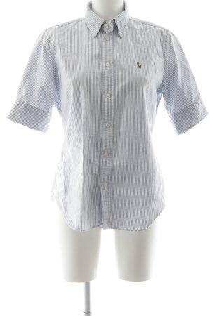Ralph Lauren Chemise à manches courtes blanc-bleu clair motif rayé