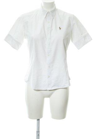 Ralph Lauren Camisa de manga corta blanco estilo deportivo