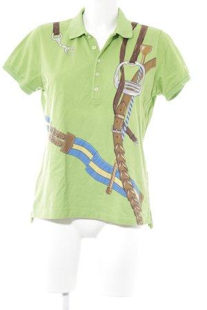 Ralph Lauren Kurzarmhemd wiesengrün Motivdruck Casual-Look