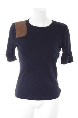 Ralph Lauren Short Sleeve Sweater dark blue casual look