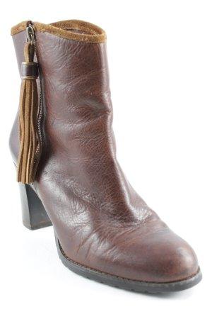 Ralph Lauren Korte laarzen roodbruin-camel country stijl