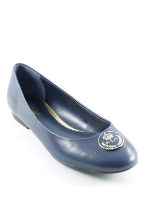 Ralph Lauren Lackballerinas dunkelblau Elegant