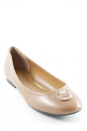 Ralph Lauren Patent Leather Ballerinas light brown classic style