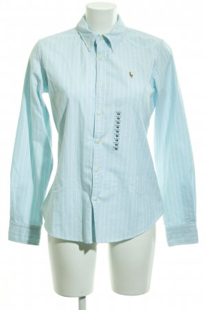 Ralph Lauren Langarm-Bluse babyblau-weiß Streifenmuster Casual-Look