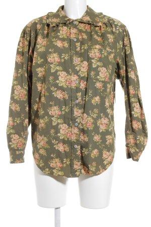 Ralph Lauren Langarm-Bluse Blumenmuster Romantik-Look