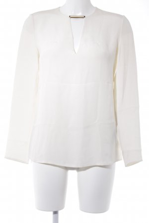 Ralph Lauren Langarm-Bluse creme Elegant