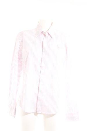 Ralph Lauren Langarm-Bluse hellrosa-weiß Streifenmuster Casual-Look