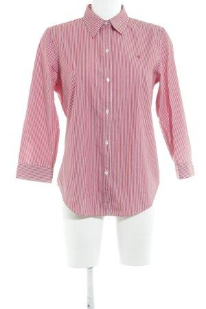 Ralph Lauren Langarm-Bluse hellrot-weiß Streifenmuster Elegant
