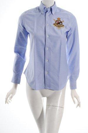 Ralph Lauren Langarm-Bluse himmelblau sportlicher Stil