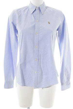 Ralph Lauren Langarm-Bluse himmelblau Webmuster Business-Look