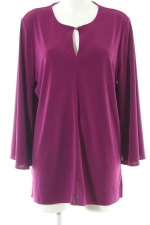 Ralph Lauren Langarm-Bluse lila Elegant