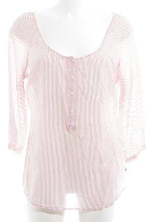 Ralph Lauren Langarm-Bluse rosa-weiß Streifenmuster Casual-Look