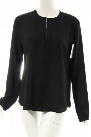 Ralph Lauren Langarm-Bluse schwarz klassischer Stil