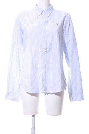 Ralph Lauren Langarm-Bluse weiß-blau Streifenmuster Business-Look