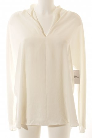 Ralph Lauren Langarm-Bluse weiß Elegant