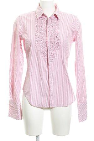 Ralph Lauren Langarm-Bluse weiß-rosa Streifenmuster Business-Look