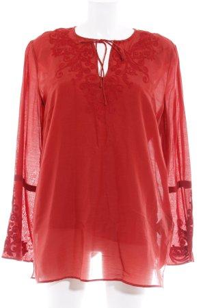 Ralph Lauren Langarm-Bluse ziegelrot Casual-Look