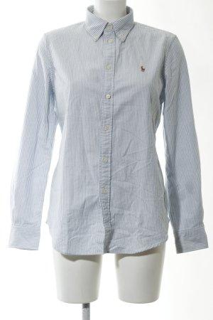 Ralph Lauren Langarmhemd weiß-blau Streifenmuster Business-Look