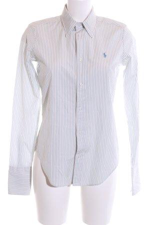 Ralph Lauren Langarmhemd weiß-blau Streifenmuster Elegant