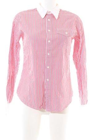 Ralph Lauren Langarmhemd rot-weiß Streifenmuster Casual-Look