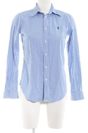 Ralph Lauren Langarmhemd blau-weiß Streifenmuster Business-Look