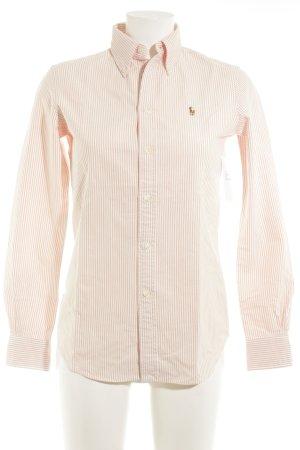 Ralph Lauren Long Sleeve Shirt apricot-natural white striped pattern Brit look