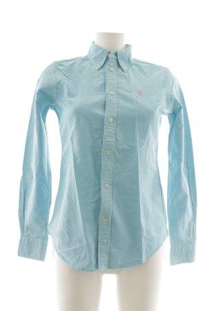 Ralph Lauren Langarmhemd babyblau Casual-Look