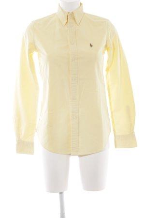 Ralph Lauren Langarmhemd blassgelb schlichter Stil