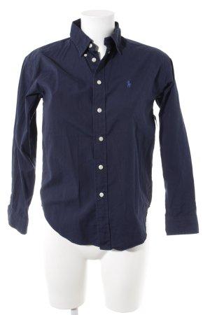 Ralph Lauren Camisa de manga larga azul oscuro estilo «business»