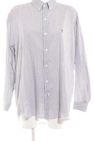 Ralph Lauren Langarmhemd dunkelblau-weiß Karomuster Boyfriend-Look