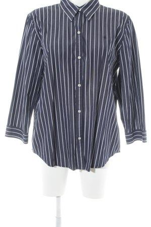 Ralph Lauren Langarmhemd dunkelblau-weiß Streifenmuster Business-Look
