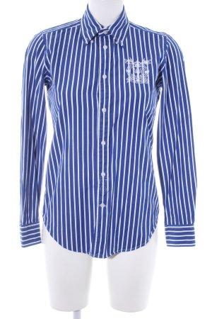 Ralph Lauren Langarmhemd dunkelblau-weiß Streifenmuster Casual-Look