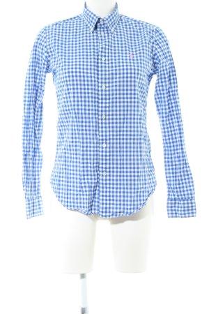 Ralph Lauren Langarmhemd weiß-blau Karomuster Casual-Look