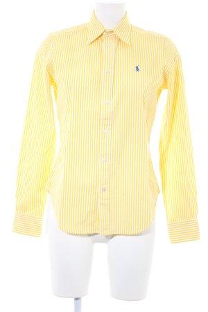Ralph Lauren Langarmhemd gelb-weiß Streifenmuster Business-Look