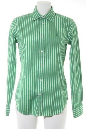 Ralph Lauren Langarmhemd grün-wollweiß Streifenmuster Business-Look