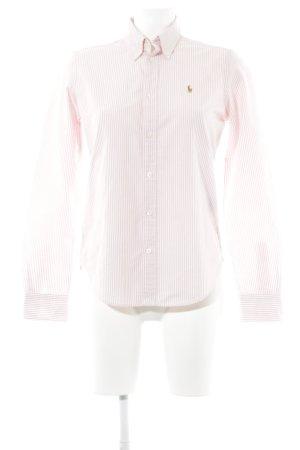 Ralph Lauren Langarmhemd hellrosa-weiß Streifenmuster klassischer Stil