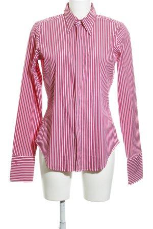 Ralph Lauren Langarmhemd himbeerrot-weiß Streifenmuster Business-Look