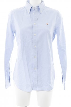 Ralph Lauren Langarmhemd himmelblau Webmuster Business-Look