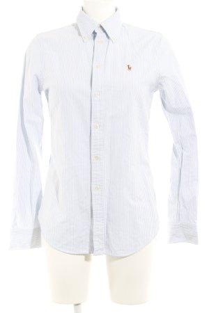 Ralph Lauren Langarmhemd himmelblau-weiß Streifenmuster Casual-Look