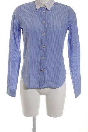 Ralph Lauren Langarmhemd himmelblau-weiß Streifenmuster klassischer Stil