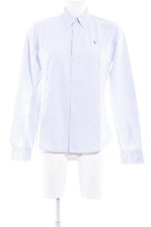 Ralph Lauren Langarmhemd himmelblau-wollweiß Streifenmuster Boyfriend-Look