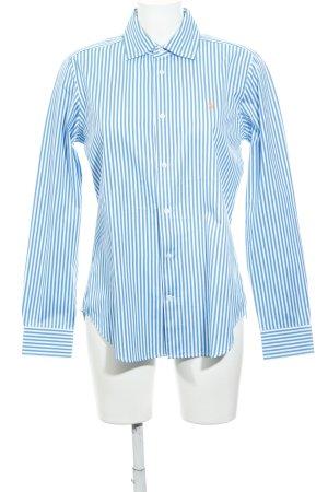 Ralph Lauren Langarmhemd neonblau-weiß Streifenmuster Business-Look
