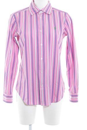 Ralph Lauren Langarmhemd pink-weiß Streifenmuster Brit-Look
