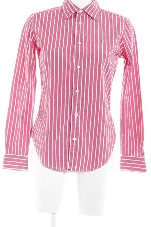 Ralph Lauren Langarmhemd pink-weiß Streifenmuster Business-Look