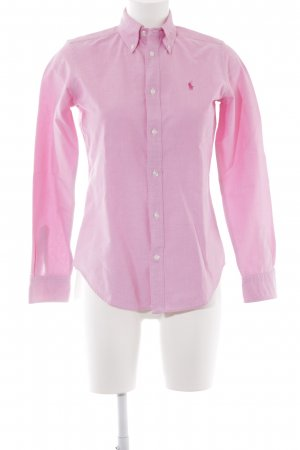 Ralph Lauren Langarmhemd rosa klassischer Stil